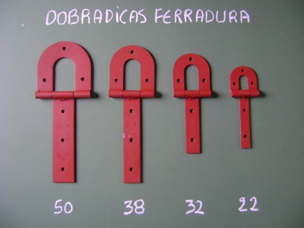 DOBRADIÇAS FERRADURA